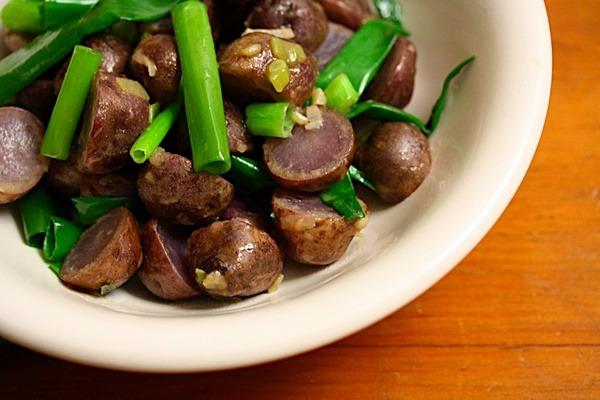 Blue Potato Salad Recipe with Sherry Vinaigrette | Vegan, Vegetarian ...