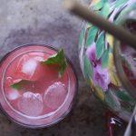 Bottoms Up: Raspberry-Basil Pink Lemonade