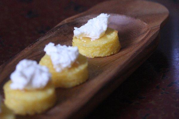 Crispy Polenta Bites with Ricotta and Truffle Honey - Feed Me Phoebe
