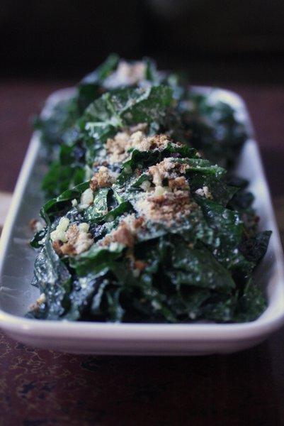 Vegan Or Vegetarian Kale Caesar Salad With Miso Almond