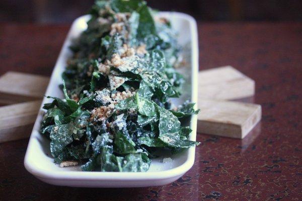 Meatless Monday: Vegetarian Kale Caesar Salad - Feed Me Phoebe