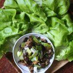 Meatless Monday: Vietnamese Eggplant and Leek Lettuce Wraps