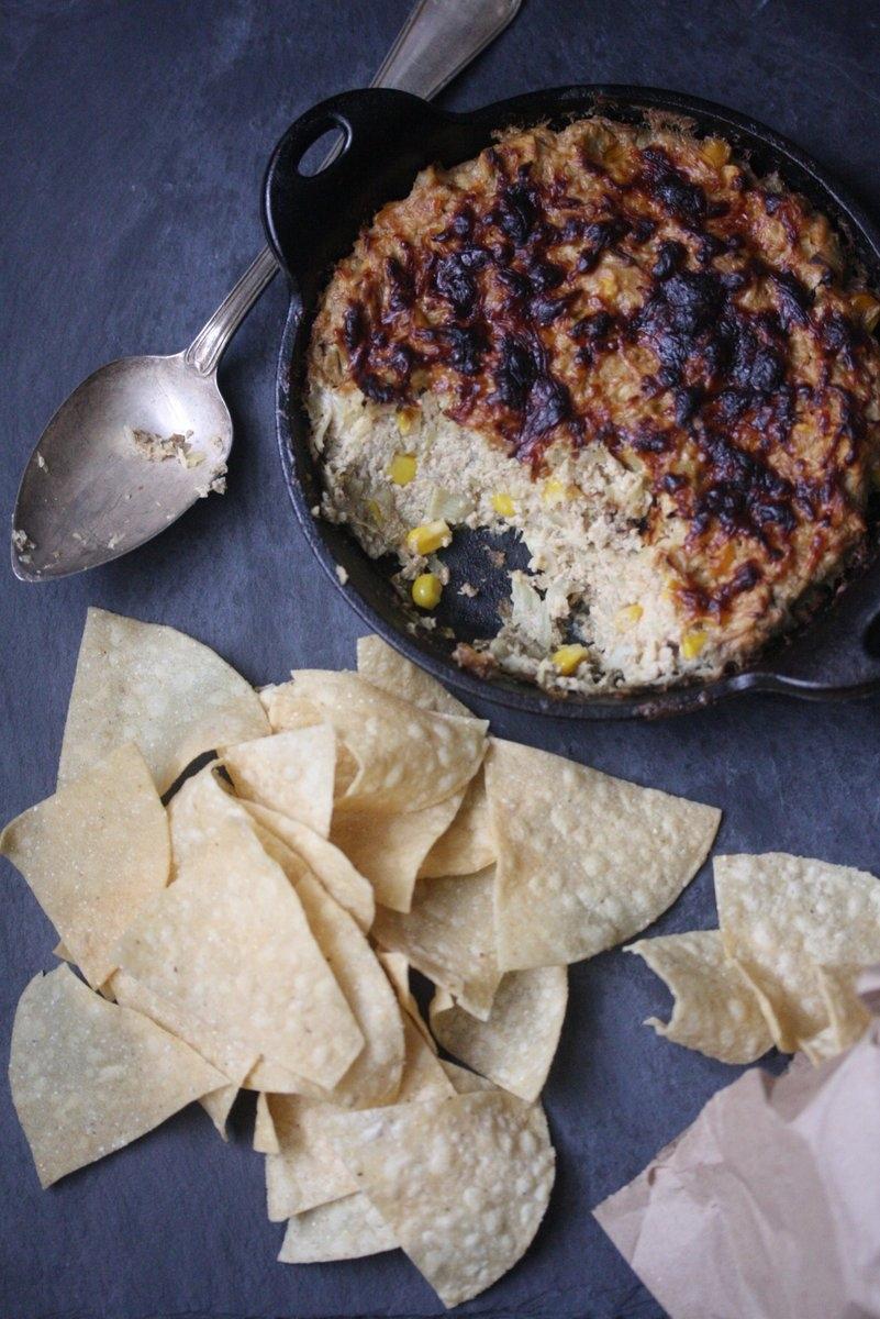 artichoke dip is made with non-fat Greek Yogurt, tofu and cayenne ...