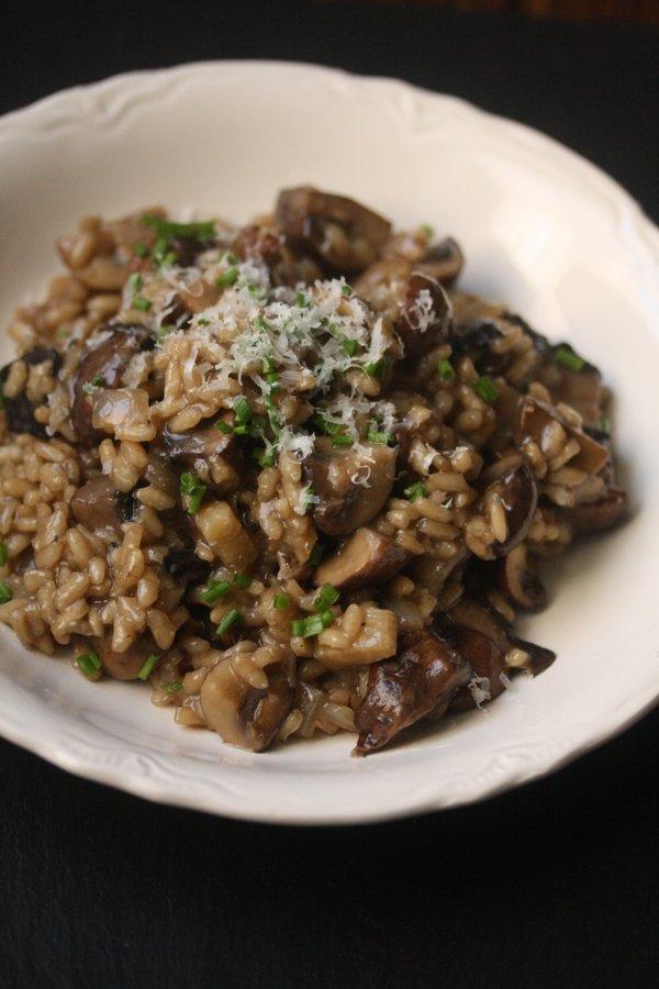 Gluten-Free Mushroom Risotto | Vegetarian, Healthy