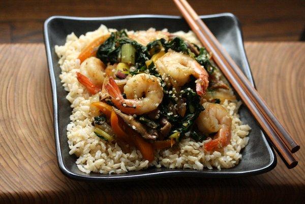 Sesame Shrimp Stir Fry Recipe with Summer Vegetables   Easy, Healthy