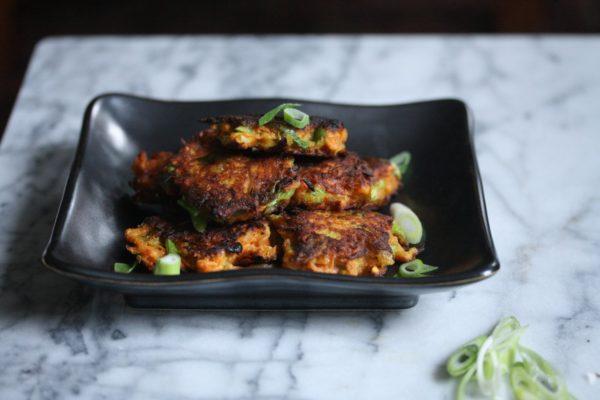 Gluten-Free Spiced Sweet Potato Latkes Recipe with Scallions