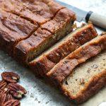Easy Maple-Pecan Gluten-Free Banana Bread Recipe | www.FeedMePhoebe.com
