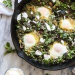 Green Israeli Shakshuka Recipe with Chard, Peas, and Zucchini | Feed Me Phoebe