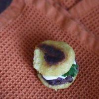 Mini Black Bean Arepas
