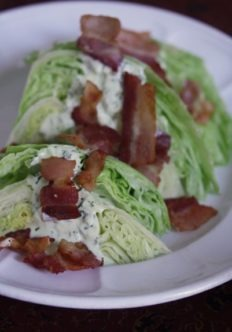 Wedge Salad with Dill Dressing and Bacon Bits