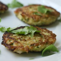 Zucchini Fritters Recipe with Scallions