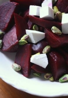 Roasted Beet Salad Recipe with Ricotta Salata and Pistachios