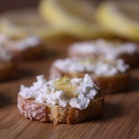 Lemon Ricotta Crostini with Truffle Honey