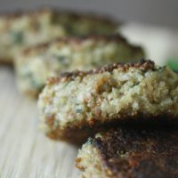 Quinoa Cakes With Basil and Parmesan