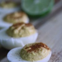 Devilish Eggs with Lime and Siracha