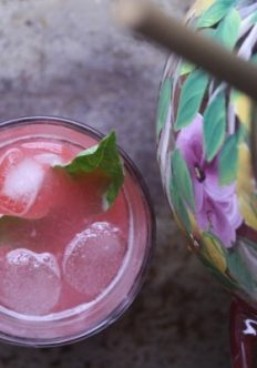 Bottoms Up: Raspberry-Basil Pink Lemonade