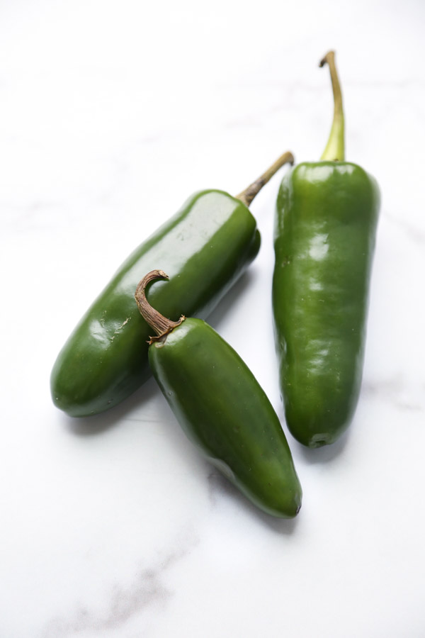 jalapenos on a marble board