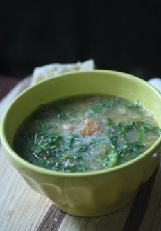 Meatless Monday: Chickpea and Arugula Soup with Parmesan