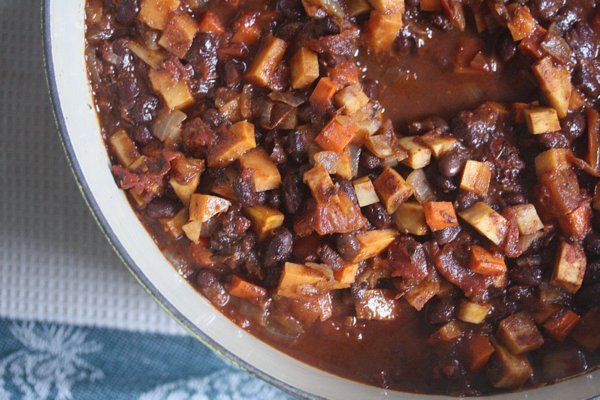 Root Vegetable and Black Bean Chili - Feed Me Phoebe