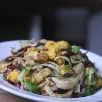 Roasted Cauliflower and Fennel Salad with Endive and Radicchio