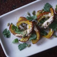 The Balanced Diet: Roasted Pumpkin Wedges with Chili, Lime, and Cotija