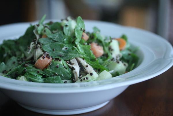 Best Arugula and Black Quinoa Salad Recipe with Green Goddess Dressing | Vegetarian, Gluten-Free, Healthy Simple Salads