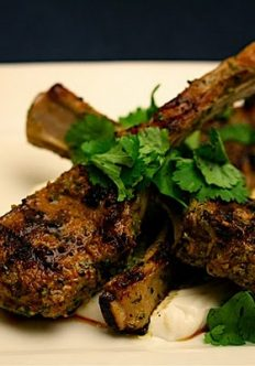 Charmoula Lamb Chops with Yogurt Sauce