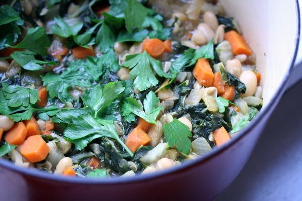 Vegetarian White Bean and Chard Stew - Feed Me Phoebe