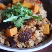 Meatless Monday: Vegetarian Butternut Squash and Leek Paella