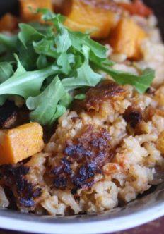 Vegetarian Butternut Squash and Leek Paella