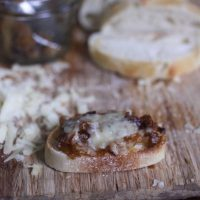 On the Job: French Onion Crostini