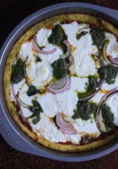 Deep Dish Polenta Pizza