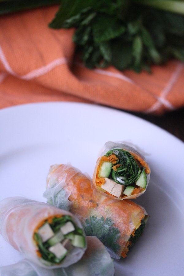 Summer Roll Recipe | These vegetarian summer rolls are healthy and vegan as well.