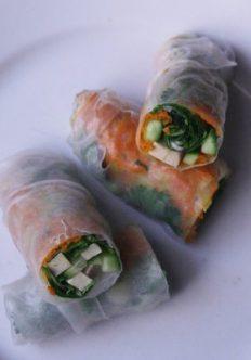 Vietnamese Summer Rolls with Smoked Tofu