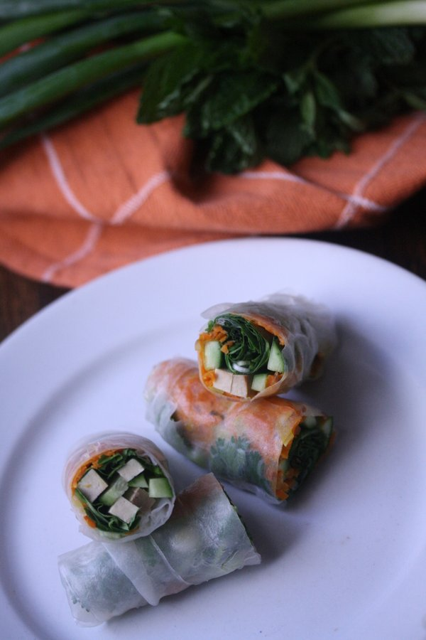 Summer Roll Vegetarian | This summer roll recipe gives you healthy vegan summer rolls