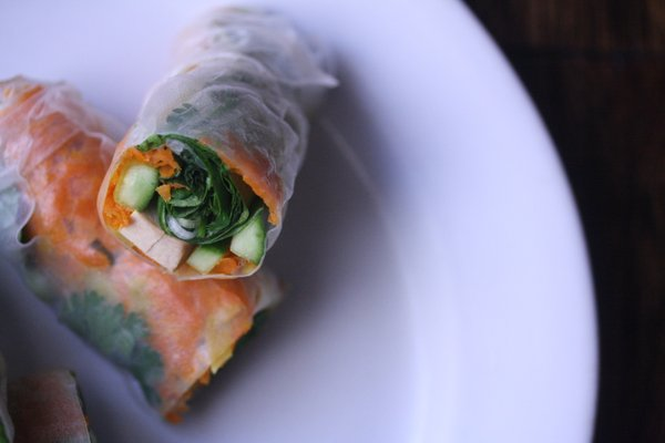 Summer Roll Recipe   I used rice paper wraps and summer roll dipping sauce in this fresh recipe
