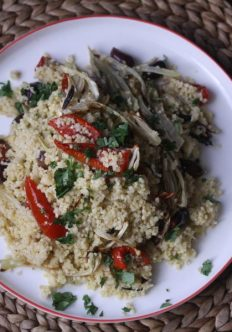 Millet Salad with Roasted Fennel and Tomatoes