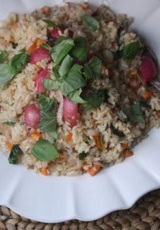 Radish and Basil Thai Fried Rice