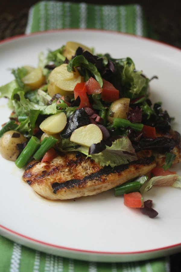 Chicken Paillard With Chopped Salad Nicoise Feed Me Phoebe