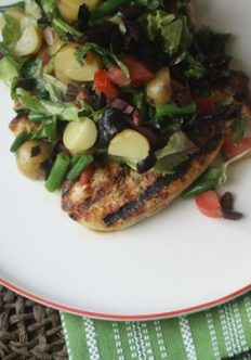 Chicken Paillard with Chopped Salad Nicoise