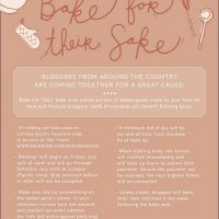 Events: Bake For Their Sake