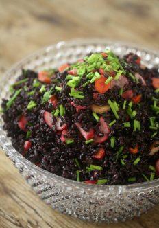 Forbidden Rice Salad With Pickled Vegetables