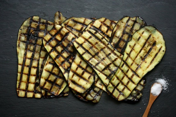Grilled Eggplant Recipe with Capers, Mint, & Sumac