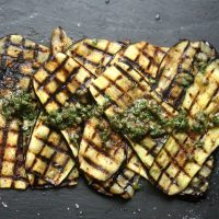 Grilled Eggplant Recipe with Sumac, Capers, and Mint