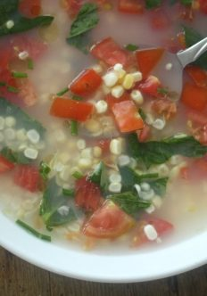 Island Fresca Soup with Corn and Tomatoes