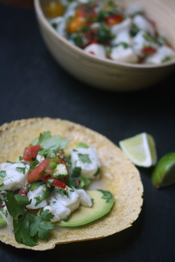 Striped Bass Ceviche: an easy seafood ceviche recipe