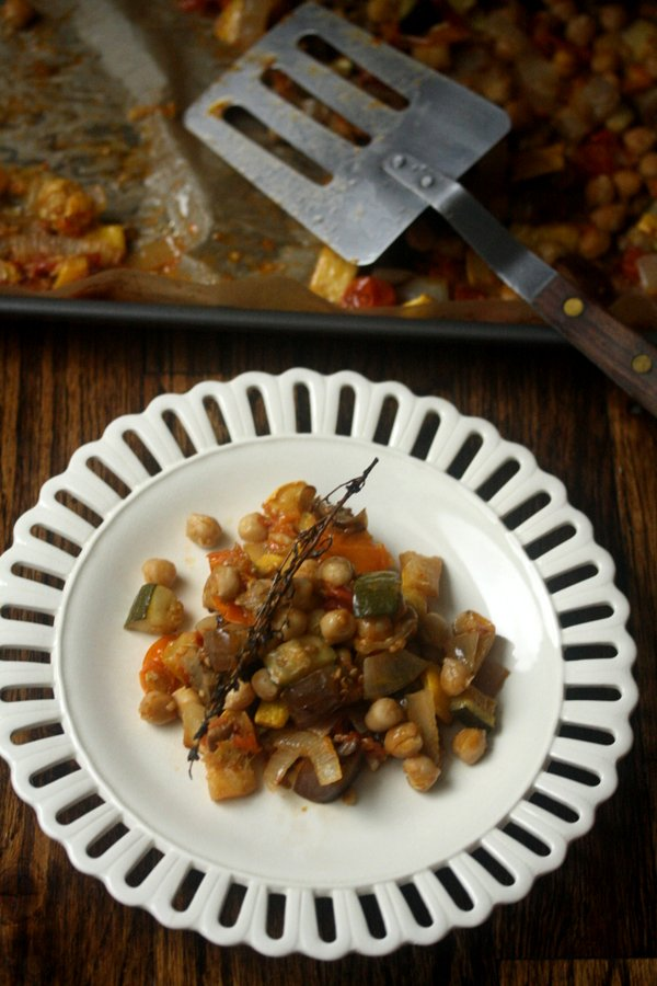 Try this roasted ratatouille as one of your vegetarian recipes for dinner