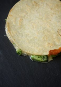 Healthy Broccoli Cheddar Quesadilla Recipe