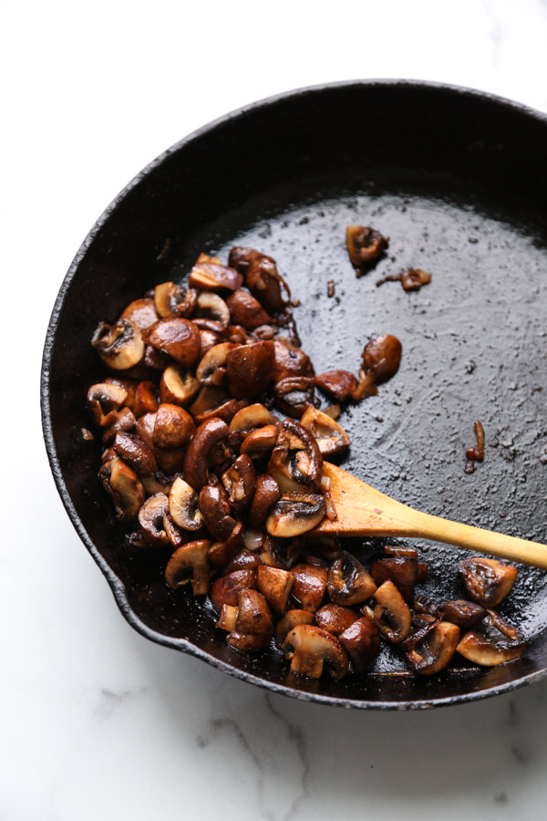 Mexican mushrooms in a skillet