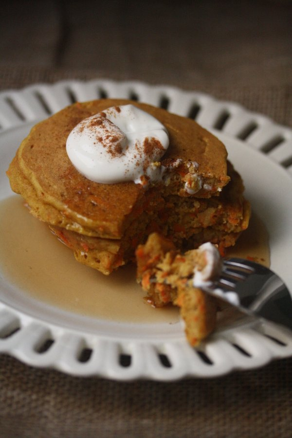 Carrot Cake Pancakes Recipe Gluten-Free Breakfast Recipes | Healthy Brunch Recipes